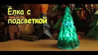 Как сделать елку из полиморфуса своими руками / Елка с подсветкой /Поделки Sekretmastera