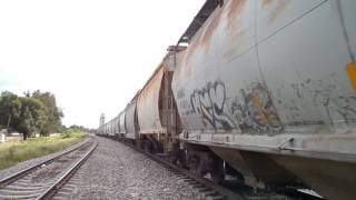 Ferromex SD70ACe 4061 y CITIRAIL 1510 granolero pasando por las Juntas Tlaquepaque Jalisco