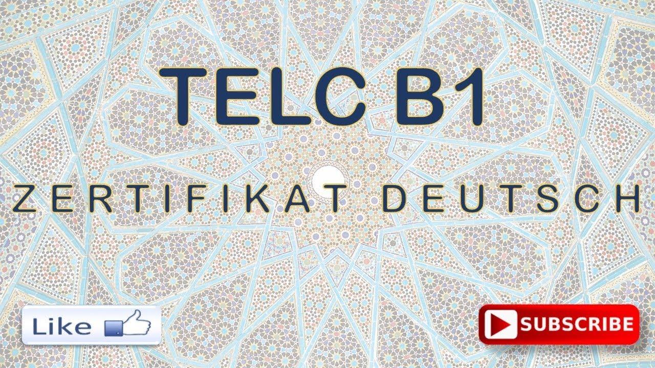 Telc B1 B1 Hören B1 Prüfung Hörverstehen Test Mit Lösungen Youtube