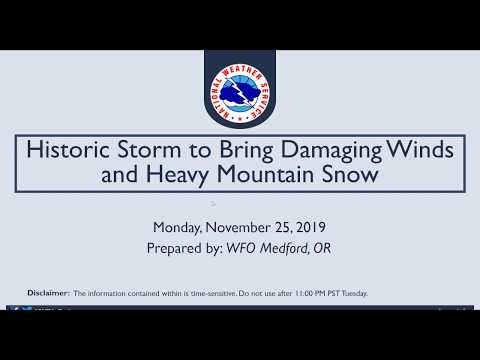 Damaging Winds And Heavy Mountain Snow