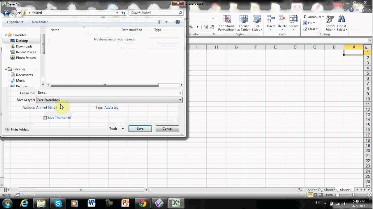 Name Rename And Save Excel Worksheet