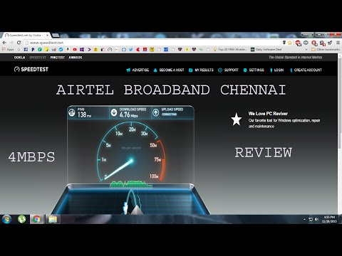 AIRTEL BROADBAND CHENNAI REVIEW