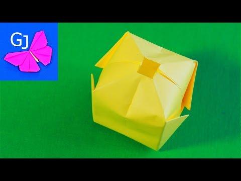 Простая оригами Бомбочка из бумаги