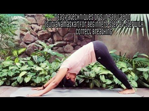 easy techniques of surya namaskar for beginners step