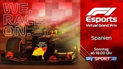 LIVE 🔴 F1 Virtual Grand Prix von Spanien | Mit Agüero, Leclerc & Co.