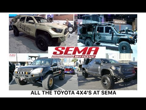 All the Toyota 4x4's at SEMA 2017 Las Vegas Nevada