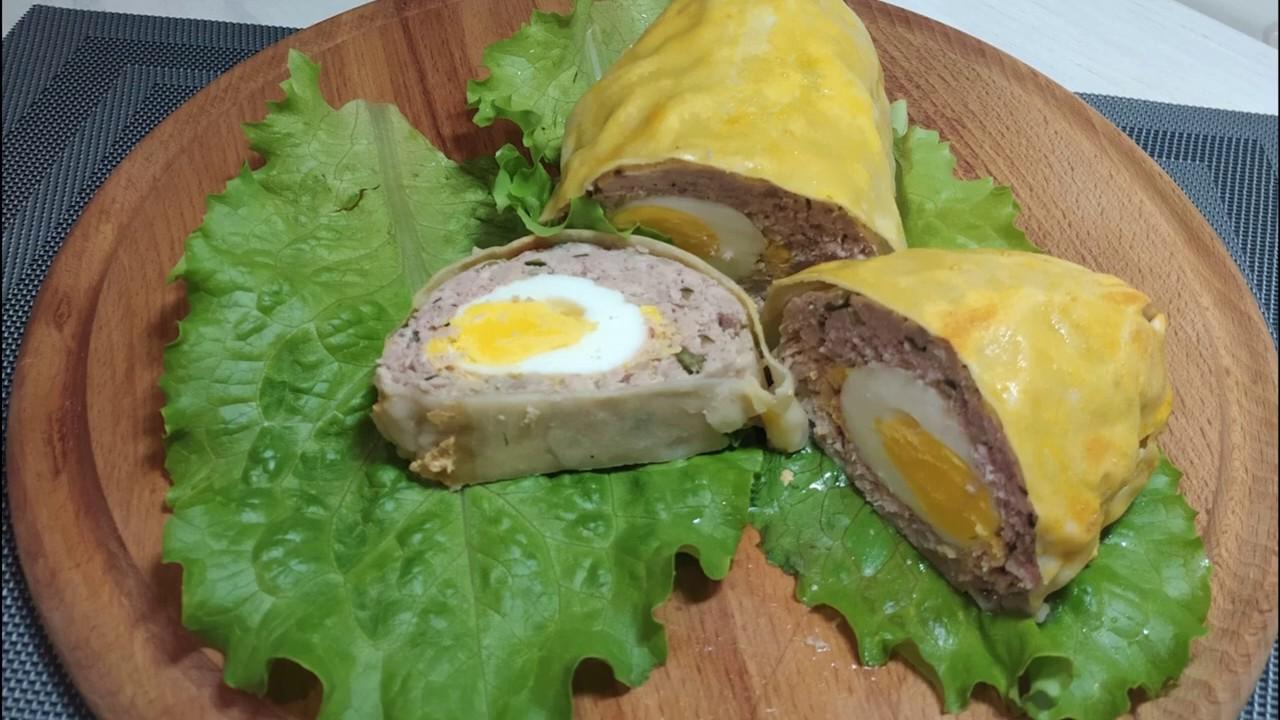 Рулет из свинины та грибов з яйцом в тесте Фило запеченный ...