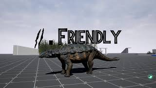 The Isle Ankylosaurus sounds with text