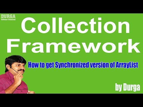 How to get Synchronized version of ArrayList (Collection Framework)
