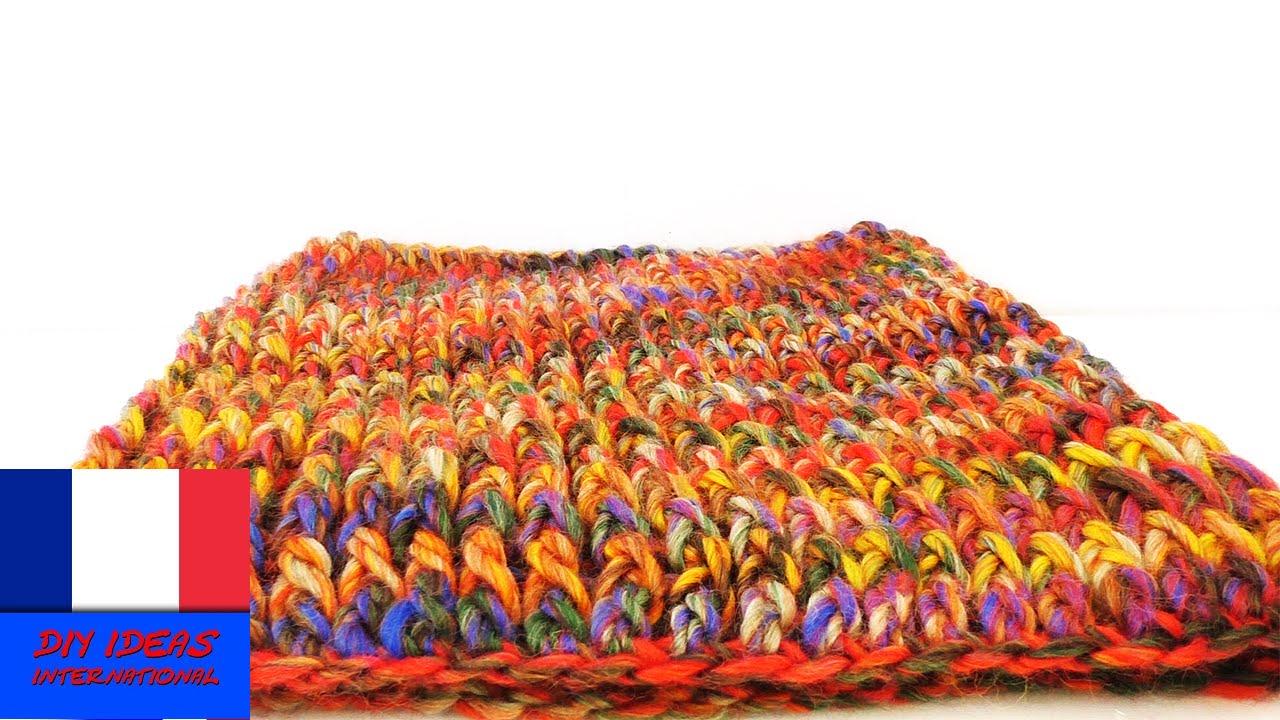 Crocheter soi-même une écharpe-tube   Crochet facile DIY   Echarpe chaude  pour l hiver - YouTube 273bd9118ef
