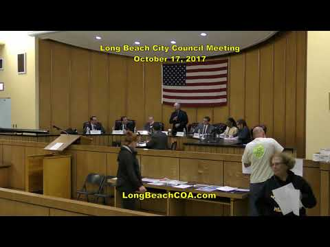 Long Beach City Council Meeting 10/17/17