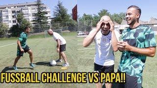 Krasse fussball challenge vs papa + bestrafung!!