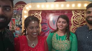 Bride and the groom about the Sangeet Wedding Anchors performance at Madras Race Club
