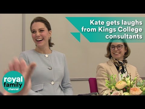 Kate gets laughs from Kings College consultants