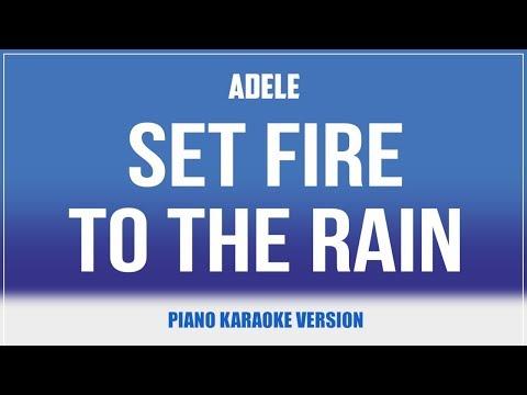 Set Fire To The Rain (Piano Version) KARAOKE - Adele