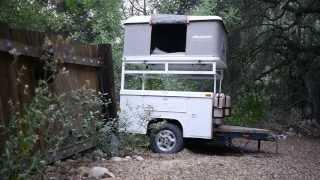 Maggiolina Airland Safari tent on adventure off-road Jeep trailer.