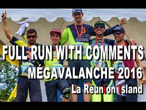 FULL RUN with COMMENTARY - Megavalanche 2016 La Réunion - CG VLOG #11