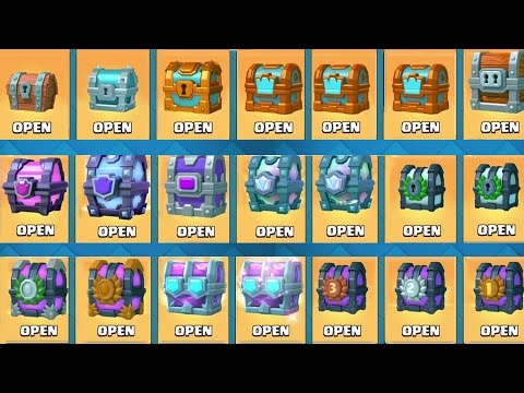 OPENING EVERY CHEST IN CLASH ROYALE! All Chests Opening & New Draft Chests!