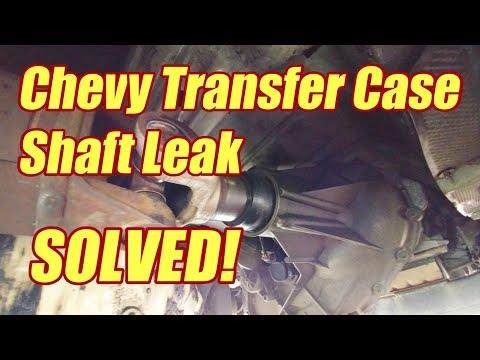 How To Fix Transfer Case Output Shaft Leak Chevy Suburban Silverado Tahoe Yukon