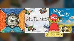 Spiel des Jahres 2020: nominiert sind Nova Luna, Pictures, My City