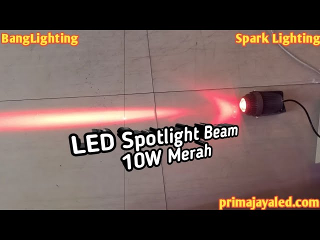 LED Spotlight Beam 10W Merah