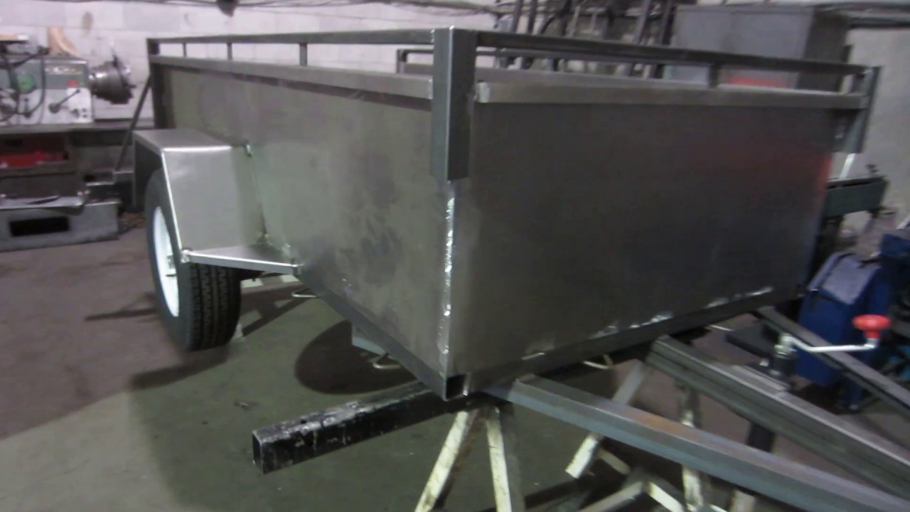 Trailer Fender Boxes : Box trailer with square fenders youtube