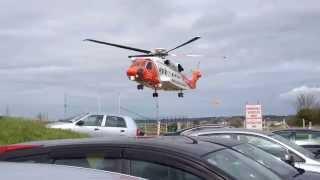 Irish Coast Guard Helicopter lifting from Sligo Hospital
