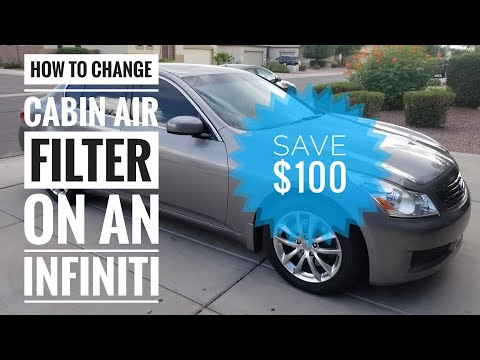 How to Replace Cabin Air Filter on Infiniti G35/G37 and Save $100