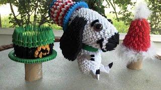 3d Origami Snoopy Tutorial