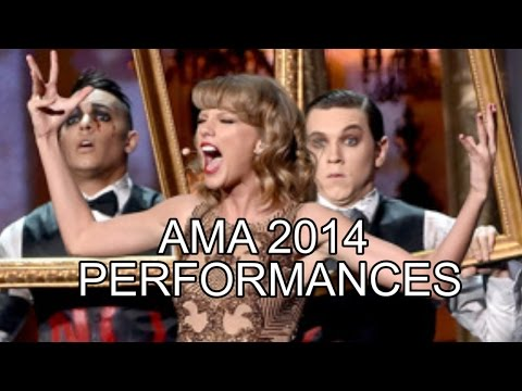 AMAs 2014 Performances  Ariana Grande Taylor Swift Blank Space One Direction 5S0S and MORE REVIEW