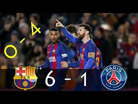 barcelona vs psg full match youtube