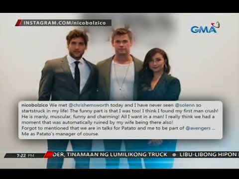 24 Oras: Solenn at Nico , fan mode nang makasama ang hollywood actor na si Chris Hemsworth