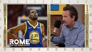 Kevin Durant RETURNS For Game 5 Of The NBA Finals | The Jim Rome Show
