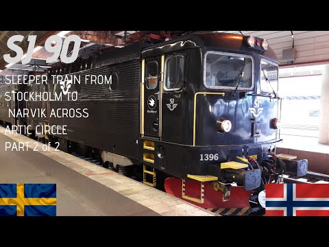 SJ90 Stockholm to Narvik Artic train HD _Original Train Sounds P2