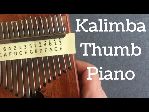 17 Key Kalimba Thumb Piano Solid Finger Piano Mahogany Body DKL 17