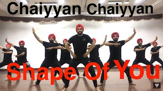 SHAPE OF YOU || CHAIYA CHAIYA || BHANGRA || FOLKING DESI || SGGSCC, DU ||