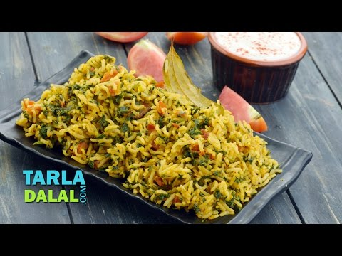 Tomato Methi Rice ( Iron Rich Recipe ) by Tarla Dalal
