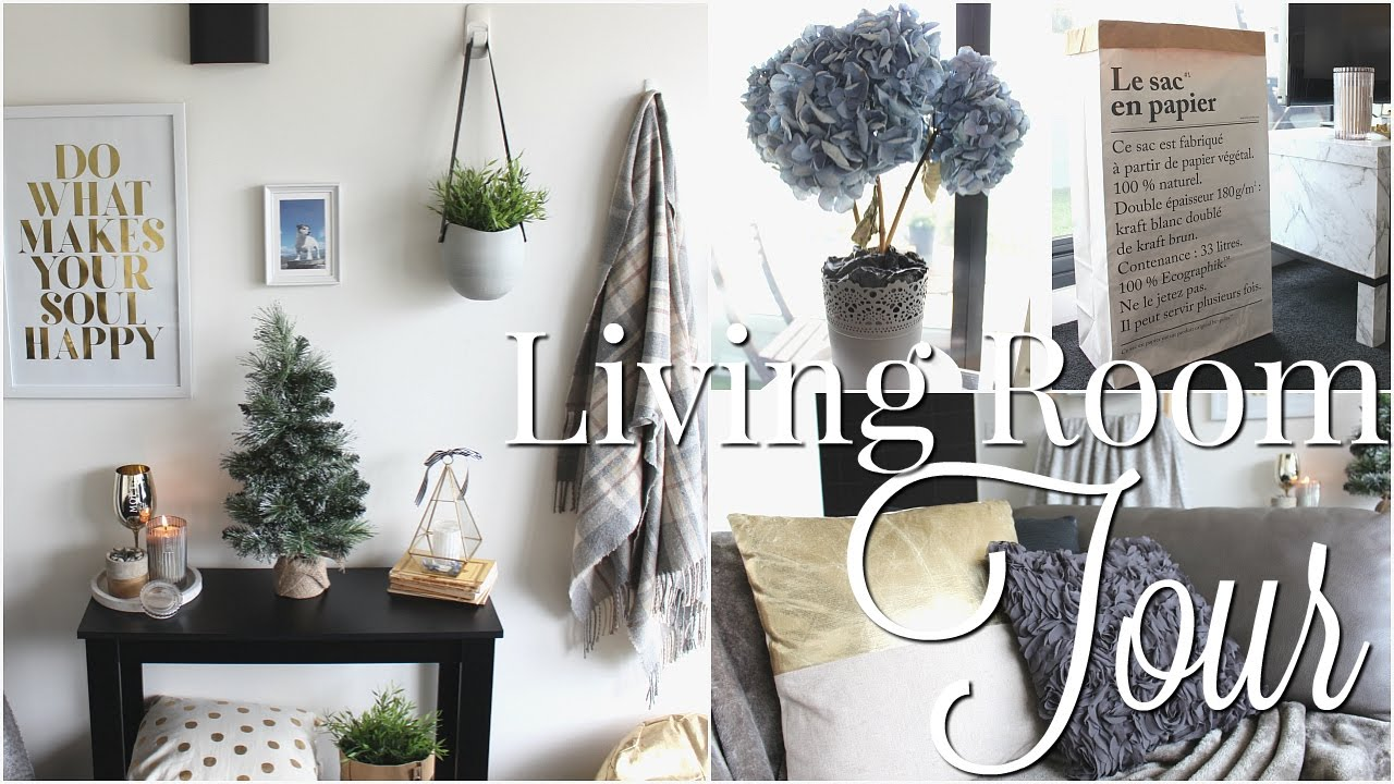 Home Tour Part Two: Living Room | Room Decor Inspiration - YouTube