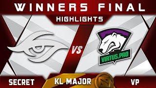 Secret vs VP Winners Final Kuala Lumpur Major KL Major Highlights Dota 2