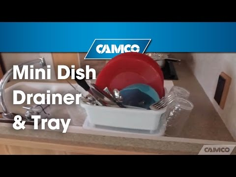 Just The Right Size Camco S Mini Dish Drainer Tray Youtube