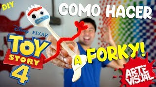CÓMO HACER A FORKY DE TOY STORY 4! Crea tu propio Forky @toystory #ToyStory4 #ToyStory