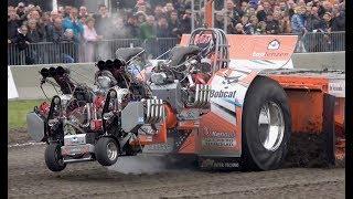 Big engine damage Inter-techno Lambada - Tractor Pulling Langedijk 2018