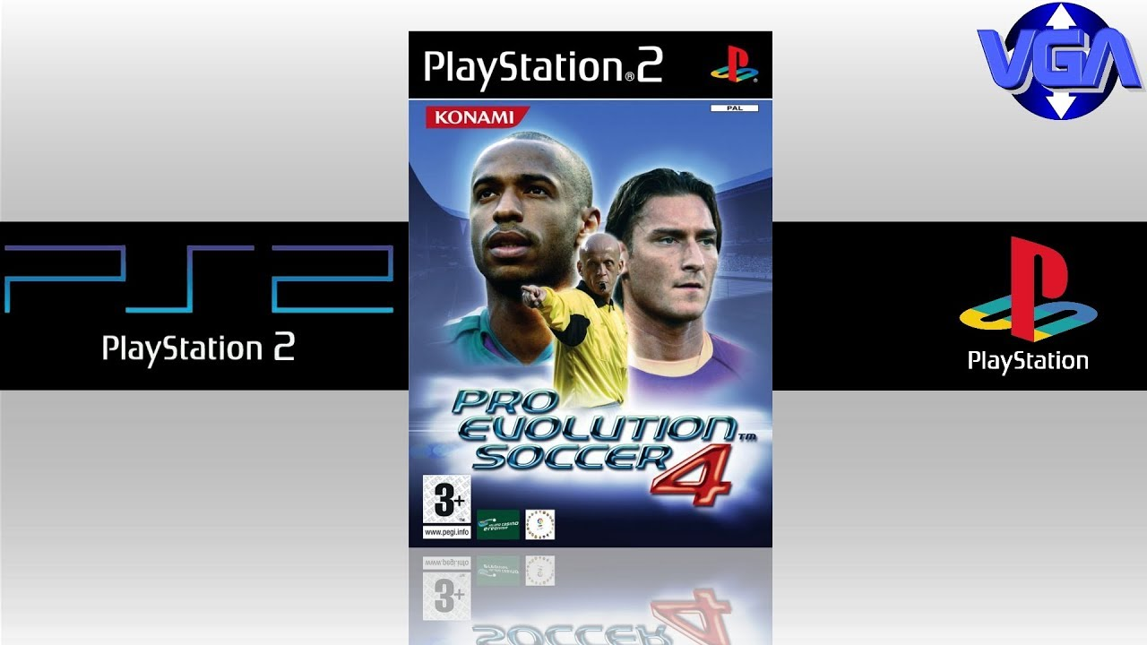 Pro Evolution Soccer 4 Gameplay PS2 ( 2004 )