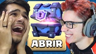 Video FLAKES VS GELLI NO DESAFIO DO BAÚ SUPER MÁGICO DO CLASH ROYALE! download MP3, 3GP, MP4, WEBM, AVI, FLV Oktober 2017