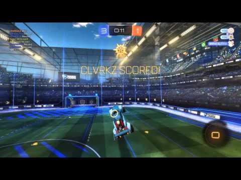 Across pitch reverse aerial - Rocket League