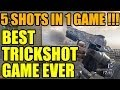 Best Trickshot game ever   5 shots in 1 game