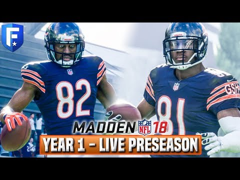 Madden 18 Bears Franchise | Year 2 Preseason Game 2 (Rookies & Roster Battles)