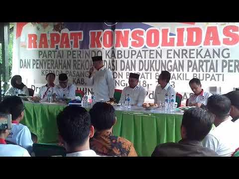 Dapat Dukungan Dari Perindo, MB Makin Pede Menang Di Pilkada Enrekang 2018