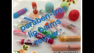 REVIEW ❤️ paraben-free lip balms 無苯基酸酯的唇膏 ❤️ autumntoki