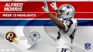 Alfred Morris Racks Up 127 Yards & 1 TD vs. Former Team | Redskins vs. Cowboys | Wk 13 Player HLs